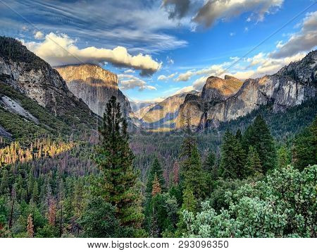 Yosemite National Park In California, Usa. A Popular Tourist Destination For Travelers From Around T