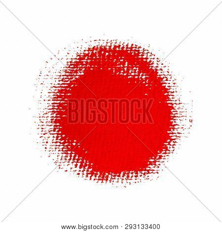 Bright Red Painted Circle. Vector Element For Different Design