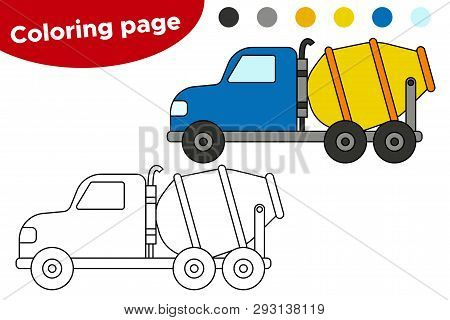 Cement Mixer coloring page | Free Printable Coloring Pages | 320x450
