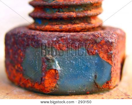 Rusty Screw And Bolt