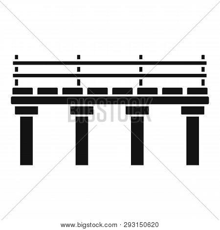 River Bridge Icon. Simple Illustration Of River Bridge Vector Icon For Web Design Isolated On White