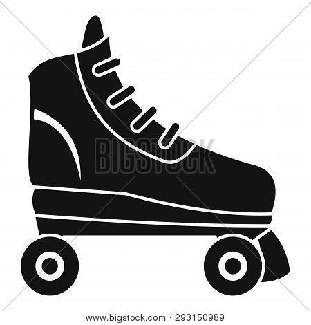 Nostalgic Roller Skates Icon. Simple Illustration Of Nostalgic Roller Skates Vector Icon For Web Des
