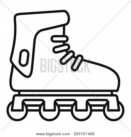 Glide Inline Skates Icon. Outline Glide Inline Skates Vector Icon For Web Design Isolated On White B