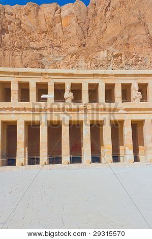 Temple Of Hatshepsut Near The Valley Of The Kings (Egypt) - vertically