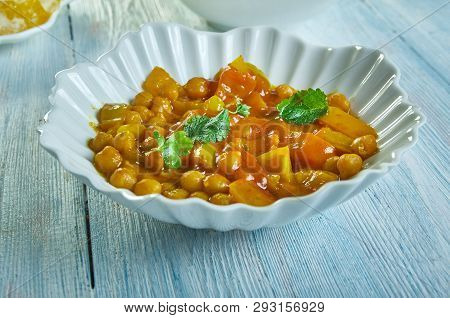 Spicy Lentil , Chickpea Stew