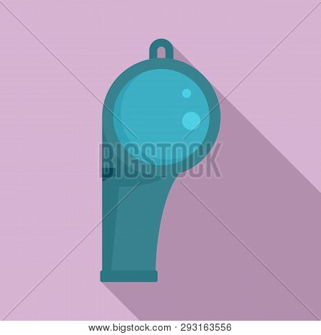 Lifeguard Whistle Icon. Flat Illustration Of Lifeguard Whistle Vector Icon For Web Design
