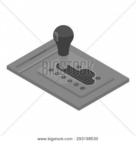 Automatic Car Gearbox Icon. Isometric Of Automatic Car Gearbox Vector Icon For Web Design Isolated O