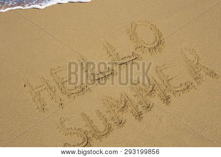 Beach Word Text Write Sea Seaside Travel Holiday