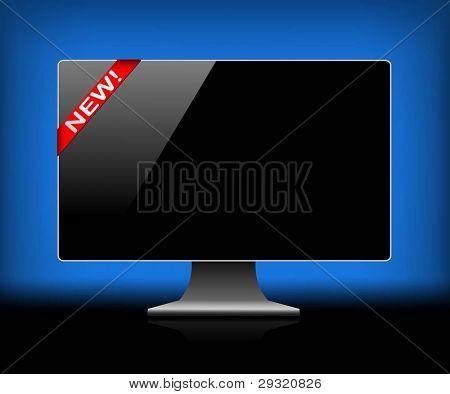 Modern digital monitor. Vector illustration.
