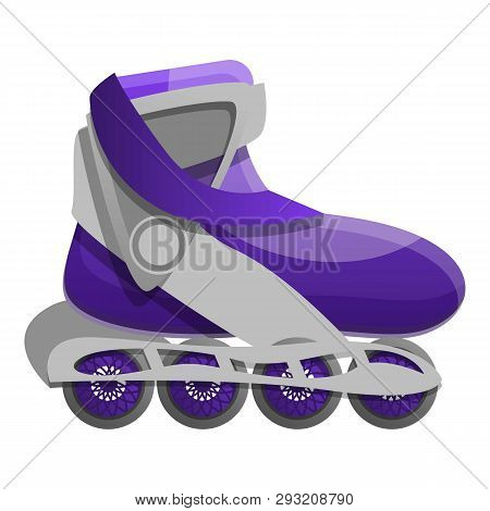 Street Inline Skates Icon. Cartoon Of Street Inline Skates Vector Icon For Web Design Isolated On Wh