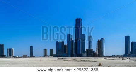 Shot Of Al Reem Island Famous Skyline Towers And Skyscrapers, In Abu Dhabi City, Addax Towers  - Abu