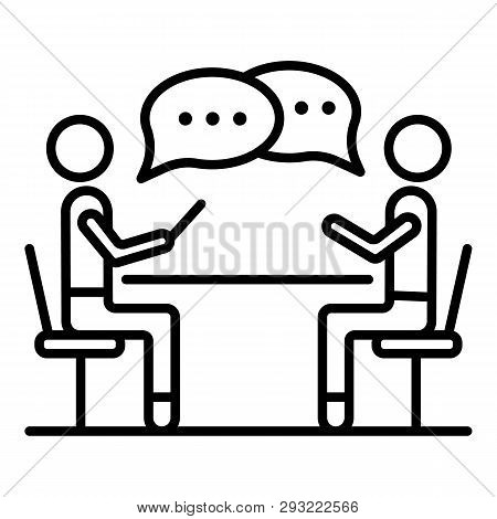 Corporate Meeting Icon. Outline Corporate Meeting Vector Icon For Web Design Isolated On White Backg