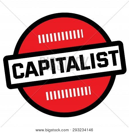Capitalist Stamp On White Background. Labels And Stamps Series.