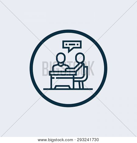 Consulting Icon Vector From Support Collection. Thin Line Consulting Outline Icon Vector Illustratio