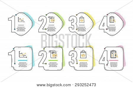Diagram Chart, Online Buying And Payment Card Icons Simple Set. Accounting Report Sign. Presentation