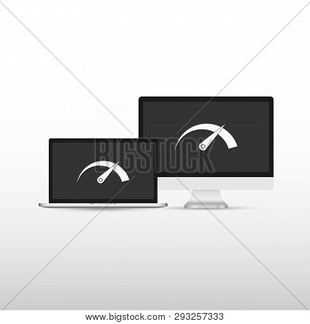 Laptop Speed Test On Vector Photo Free Trial Bigstock