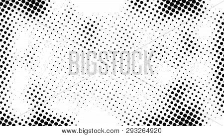 Half Tone Of Many Dots, Computer Generated Abstract Background, 3d Render Backdrop With Optical Illu