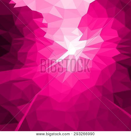 Vector Abstract Pink Background Of Flash Or Light. Geometric Fond With Blur Effect. Illustration Of