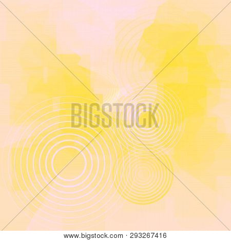 Vector Abstract Light Background With Blur Effect. Geometric Fond With Circles. Illustration Of Futu