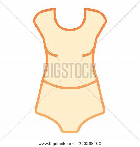 Tshirt And Panties Flat Icon. Woman Underware Orange Icons In Trendy Flat Style. Lady Underclothes G