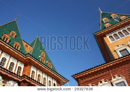 Russia, Moscow. The restored palace of Tsar Alexei Mikhailovich in the estate Kolomenskoe. poster