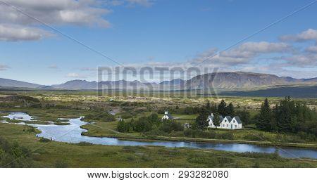 Discrepancies North American And Eurasian Lithospheric Plates. Park Thingvellir. Iceland