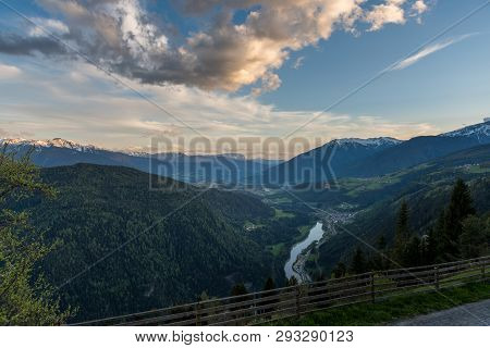 Wonderful Sunset View Of The Dolomites - Trentino Alto Adige On The National Park Sexten Dolomites (