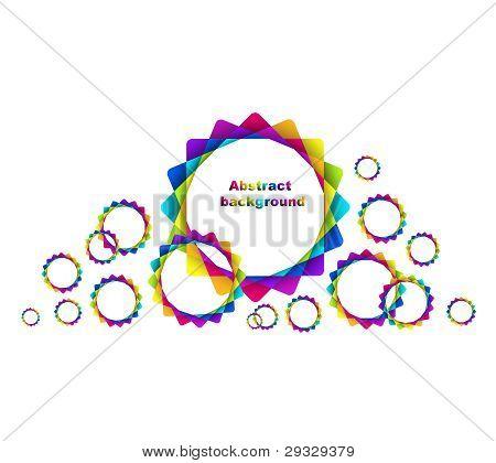 Abstract Geometric Rainbow Circles Background