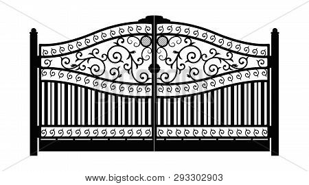 Forged Gate  Vector & Photo (Free Trial) | Bigstock