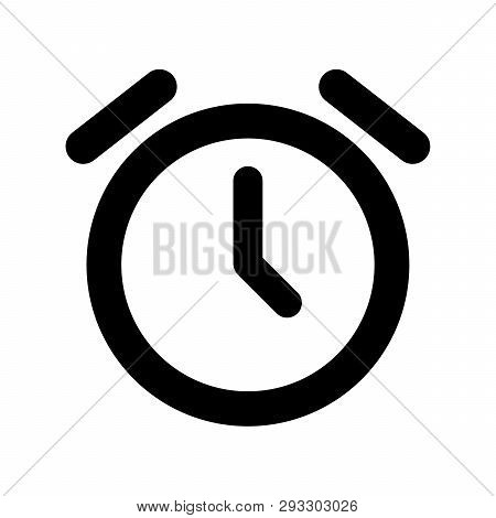 Alarm Clock Icon Isolated On White Background. Alarm Clock Icon Modern Symbol For Graphic And Web De