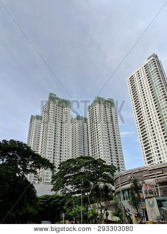 Jakarta, Indonesia - March 23, 2019: Background Of Thamrin Residences Apartment In Tanah Abang Distr