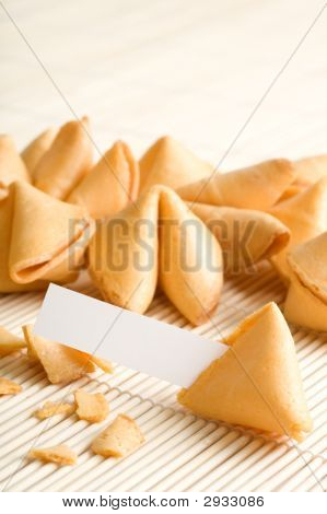 Fortune Cookies With Blank Paper