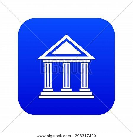 Colonnade Icon Digital Blue For Any Design Isolated On White Vector Illustration