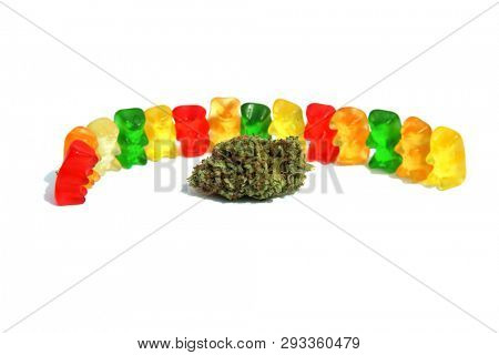 Marijuana Edibles. Cannabis Edibles. THC Infused Gummy Bears. CBD Infused Gummy Candies. Medical Cannabis. Recreational Marijuana.