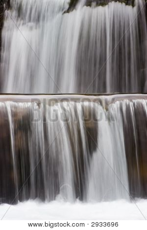 Detail of a waterfall - Gradas de Soaso - National park Ordesa y Monte perdido. With long exposure time. poster