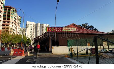 Singapore-24 Mar, 2019:  View Of Eating House Located In Choa Chu Kang, Singapore.