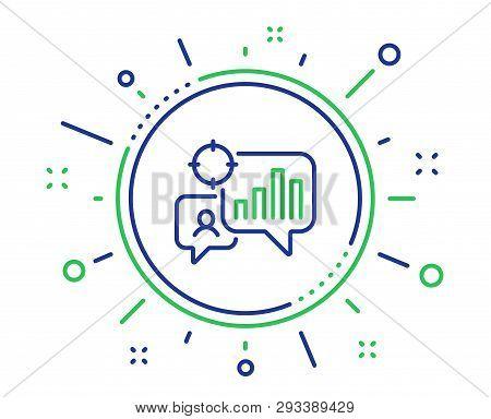 Seo Statistics Line Icon. Search Engine Optimization Sign. Analytics Chart Symbol. Quality Design El