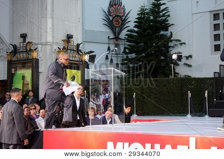 LOS ANGELES - JAN 26:  Quincy Jones at the Michael Jackson Immortalized  Handprint and Footprint Ceremony at Graumans Chinese Theater on January 26, 2012 in Los Angeles, CA