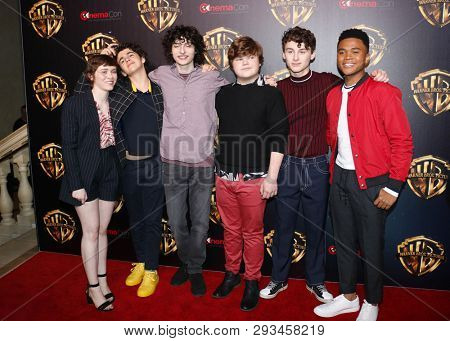 Sophia Lillis, Finn Wolfhard, Jeremy Ray Taylor, Wyatt Oleff, Chosen Jacobs and Jack Dylan Grazer at the 2019 CinemaCon - 'The Big Picture' Presentation held in Las Vegas, USA on April 2, 2019.