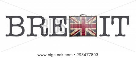Brexit Concept Isolated On The White Background