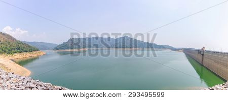 Khun Dan Prakan Chon Dam The Longest Concrete Dam In Thailand, 2 Km Span The Dam Is Very Large Muean