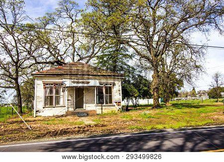 Abandoned Uninhabitable Single Level House In Disrepair