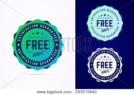 The Round Free Gradient Style Sticker, Tag, Button, Badge. Vector Badge For Promotion Your Free Prod