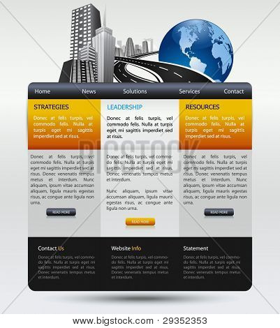 web design modern template for business company