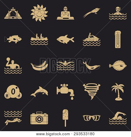 Plunge Icons Set. Simple Set Of 25 Plunge Vector Icons For Web For Any Design