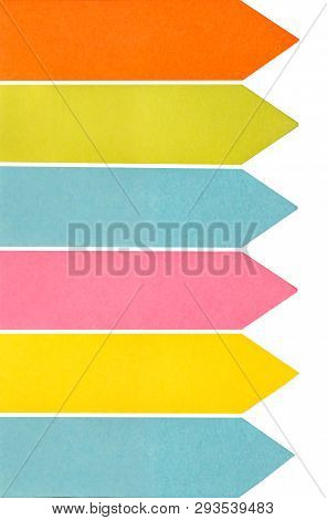 This Is A Close Up Of Colored Sticky Notes