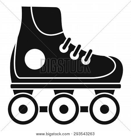 Kid Inline Skates Icon. Simple Illustration Of Kid Inline Skates Vector Icon For Web Design Isolated