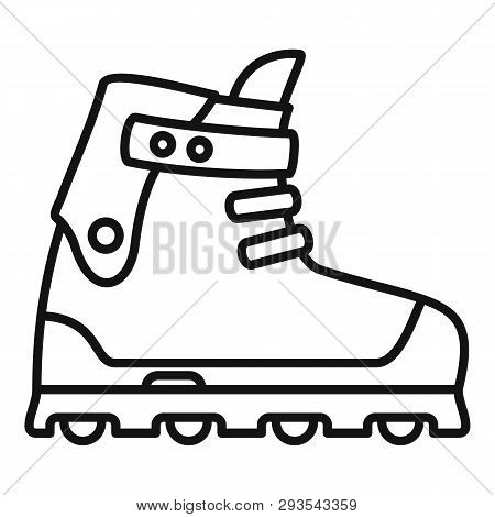 Small Wheel Inline Skates Icon. Outline Small Wheel Inline Skates Vector Icon For Web Design Isolate