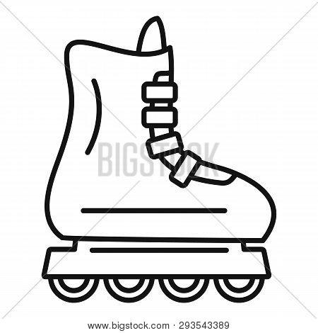 Children Inline Skates Icon. Outline Children Inline Skates Vector Icon For Web Design Isolated On W