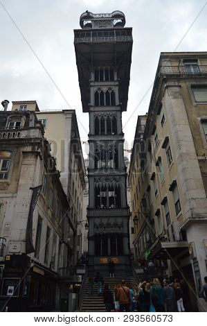 Santa Justa Elevator From Which You Can See Beautiful Views Built By Raoul Mesnier De Ponsard In 190